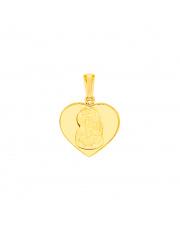 Złota zawieszka medalik z Matką Boską Częstochowską pr.585