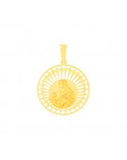 Złota zawieszka medalik z Matką Boską Karmiącą pr.585