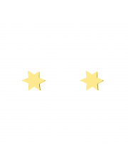 Złote kolczyki sztyfty gwiazdki pr. 585