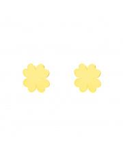 Złote kolczyki sztyfty koniczynka - pr.333