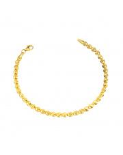Złota bransoletka o finezyjnym splocie pr. 585