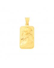 Złota zawieszka blaszka z Jezusem Chrystusem - pr. 585