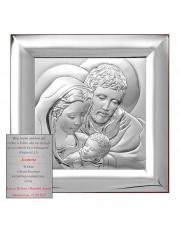 Obrazek świętej rodziny 12 x 12 cm