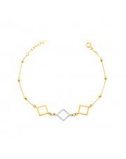 Złota bransoletka z rombami - pr.585