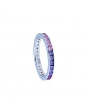 Srebrny pierścionek z kolorowymi cyrkoniami - pr.925