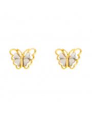 Złote kolczyki z motylem - pr. 585
