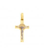 Złoty krzyż z cyrkoniami - pr. 585