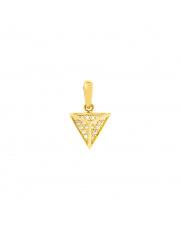 Złota zawieszka piramida z cyrkoniami pr. 585
