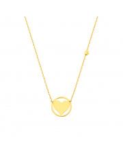 Łańcuszek złoty celebrytka z sercem w kółku pr. 585