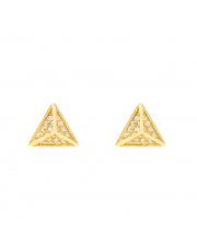 Złote kolczyki sztyfty piramida pr. 333