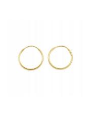 Złote kolczyki Koła 1 cm pr. 585