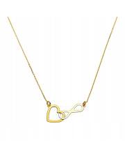 Złoty łańcuszek serce i nieskończoność pr.333