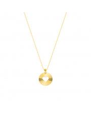Złota celebrytka-naszyjnik z kółkiem - pr. 585