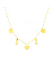 Złoty łańcuszek celebrytka serce i nieskończoność pr. 585