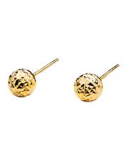 Złote kolczyki kulki diamentowane - pr.585