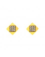 Złote kolczyki sztyfty kwadrat pr. 333
