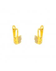 Złote kolczyki z motylem na angielskim zapięciu pr. 585