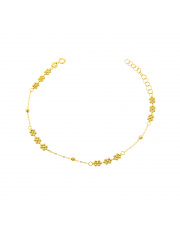 Złota bransoletka z kwiatkami- pr.585