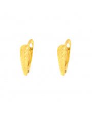Złote kolczyki na angielskim zapięciu diamentowane pr. 585