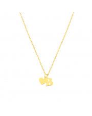 Złoty łańcuszek celebrytka serce i literka B pr.585