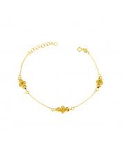 Złota bransoletka z ażurową kulką - pr.585