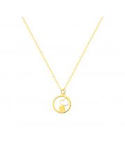 Łańcuszek złoty celebrytka z sercem  pr.585