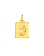 Złota zawieszka medalik z Matką Boską Częstochowską pr.333
