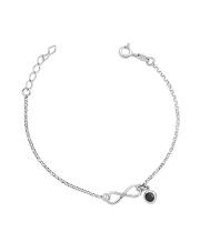 Srebrna bransoletka celebrytka nieskończoność pr.925