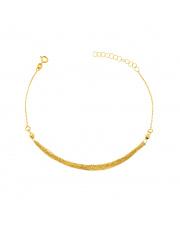 Złota bransoletka celebrytka z łańcuszkami - pr. 333