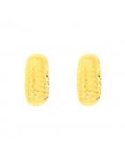 Złote kolczyki na angielskim zapięciu - diamentowane pr. 585