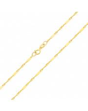 Złoty łańcuszek singapur z blaszkami 50cm - pr. 333