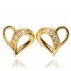 Złote kolczyki sztyfty serce kontur pr. 333