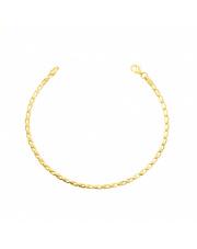 Złota bransoletka fasolki -18cm pr. 585