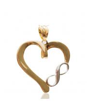 Złota zawieszka serce z nieskończonością  - pr. 585