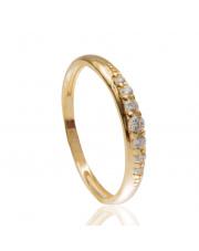 Złoty pierścionek z białymi cyrkoniami - pr.585