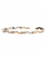 Złota bransoletka rolex - 19,5 cm - pr. 585