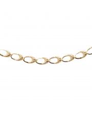 Złota bransoletka owale - 19,5 cm pr. 585
