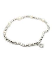 -13% Srebrna bransoletka z perłami pr.925