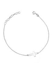 Srebrna bransoletka celebrytka z krzyżykiem - pr. 925