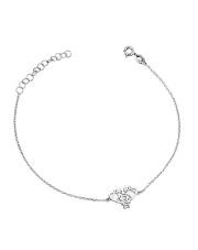Srebrna bransoletka celebrytka ze słoniem - pr. 925