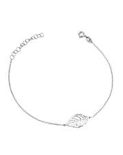 Srebrna bransoletka celebrytka z liściem - pr. 925