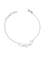 Srebrna bransoletka celebrytka z sercem - pr. 925