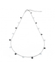 Srebrny naszyjnik z cyrkoniami - pr. 925