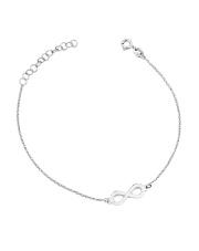 Srebrna bransoletka celebrytka z symbolem nieskończoności - pr. 925