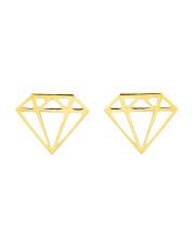 Złote kolczyki diament - pr. 585