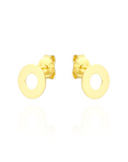 Złote kolczyki z kółkiem - pr. 585