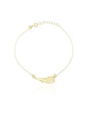 Złota bransoletka ze skrzydłem anioła - pr. 585