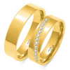 Złote obrączki z cyrkoniami - pr. 585