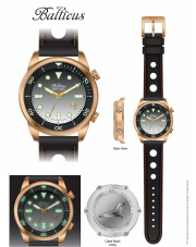 Zegarek męski Balticus Grey Seal Bronze Automatic - Limited Edition