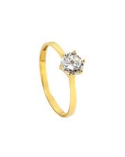 -20% Pierścionek zaręczynowy z cyrkonią - pr. 585